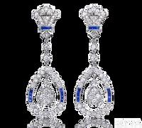 Ziva Art Deco Sapphire Earrings