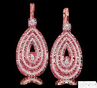 Ziva Diamond Drop Earrings in Rose Gold