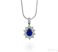 Ziva Pear Sapphire Pendant
