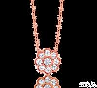 Ziva Flower Diamond Pendant in Rose Gold