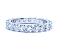 1.68 cttw Diamond Ring In Platinum