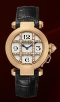 Cartier Pasha 32mm (Diamonds/ Silver /Croc