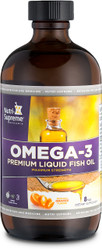 Omega-3 Premium liquid fish oil orange flavor – 8 oz.