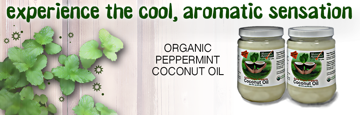 Organic Peppermint Coconut Oil for oil pulling