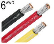 6 Gauge UL Battery Cable Red