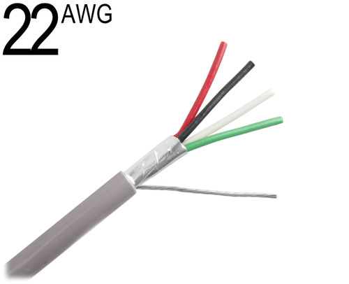 Cable Coax Multi Conductor : Shielded multiconductor cable awg