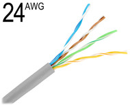 CAT5 24 Gauge 4 Pair Unshielded Solid Bare Copper Wire, M24/4PR-CAT5E
