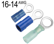 Ring Terminals for 16 AWG - 14 AWG Wire
