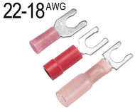 Fork Terminals for 22 AWG - 18 AWG
