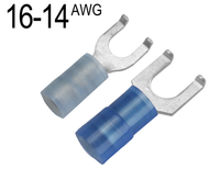 Flanged Fork Terminals for 16 AWG - 14 AWG