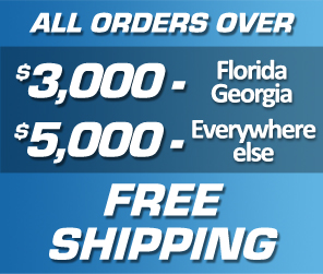 All Orders Over $3,000 - Georgia/Florida - $5,000 - Everywhere Else - Free Shipping