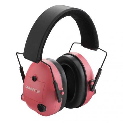 Champion NRR 23db Electronic Ear Muffs-Pink-40975