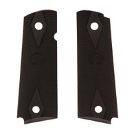 Hogue 1911 Government Model Checkered Grip Panels-Black Rubber (45010)