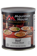 Mountain House Diced Beef-Freeze Dried Emergency Survival Food (0030122)