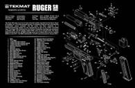 """TekMat Ruger SR Pistol Series-11""""x17"""" Gun Cleaning Mat (17RUGERSR9)"""