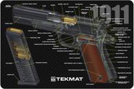 """TekMat 1911 3D Cutaway 11"""" X 17"""" Gun Cleaning Mat (171911CA)"""