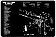 TekMat 1911 Handgun Cleaning Mat With Exploded Handgun Parts Schematic (171911)