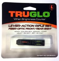 TruGlo Fiber Optic Rifle Sight Set For Henry Golden Boy/Big Boy Rifles TG114