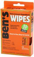 Ben's 30% DEET Insect Repellent Wipes 12 Pack (0006-7085)