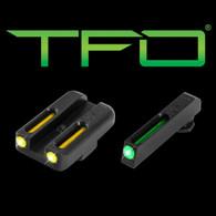 TruGlo Glock 42/43 Green Front/Yellow Rear Tritium Fiber Optic Sights  (TG131GT1B)