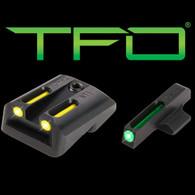 TruGlo 1911 Novak .270 Green Front/.450 Yellow Rear TFO Sight Set (TG131NT2Y)