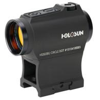 Holosun Red Dot Sight 2 MOA Dot/65 MOA Circle Battery Powered (HS503BU)