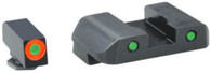 Ameriglo Glock 42/43 Spartan Op Tritium Sight Set W/Orange Outline Front (GL-450)