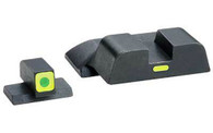 Ameriglo S&W Cap Set Tritium W/Lumi-Green Outline Front & Line Rear (SW-614)