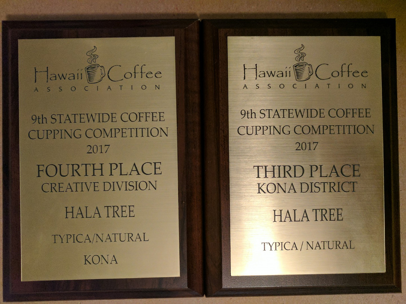 2017 Hawaii Coffee Association cupping competition results