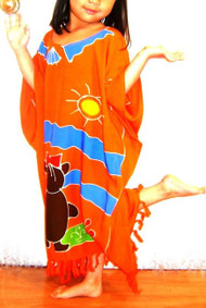 TEDDYBEAR Orange Girl Kaftan Dress Gift  9 10 11 12 13