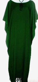 SALE PLAIN Green Kaftan Dress Beach 14 16 18 20 22 FS