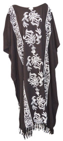 Penang Long Kaftan Dress Floral Oriental Motives - Fits many sizes