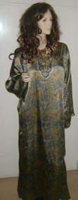 Silky Moroccan Arabic Dress Jilbab Kaftan Abaya M, L, XL, XXL dF