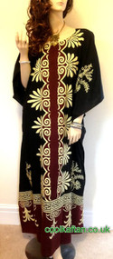 LANGKAWI 100% Cotton Long Kaftan Long Hand Made Plus Dress