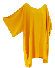 Plain Top Blouse Buttersoft Wide Sleeved Rayon Kaftan  - Freesize