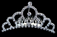 New 70% Off QUEEN Tiara Crown Slide Comb Diamonte Silver Bridal Bridesmaid Brides