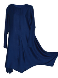 Ladies Womens Italian Lagenlook Quirky Plain Flowy Batwing Kaftan Dress Oversize