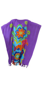 HENNA FLOWER Hand Painted Girls Kaftan Soft Beach Dress Long Top Kids Childs New