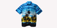 ANDAMAN Handmade 100% Cotton Batik Beach Top Hawaii Shirt Mens Short Sleeved