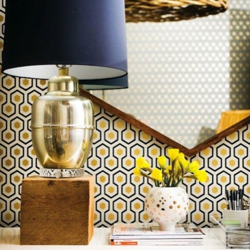Cole son hicks hexagon natty polly wallpaper australia - Papier peint vintage bleu ...