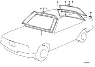 BMW E24 6-series Rear Windshield Trim