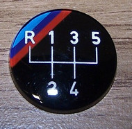 BMW Gear Knob Badge 5-speed Overdrive