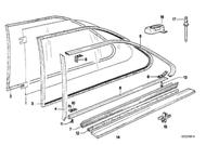 BMW E21 320i Rear Window Sealing