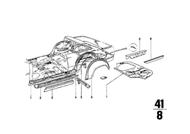 BMW 2002 Outer Rear Wheel House Sheet Metal