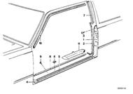 BMW Door Entrance Inner Covering Strip