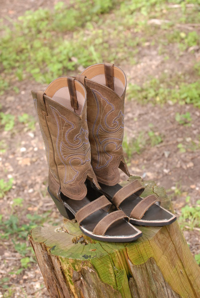 The new Double Strapper Redneck Boot Sandals