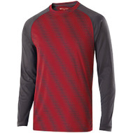 Scarlet/Carbon - Holloway Long Sleeve Torpedo Shirt #222511