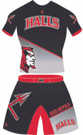 Two Piece Alternate Wrestling Uniform Demon Front