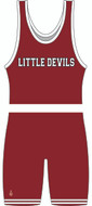 Little Devils Team Singlet Front View