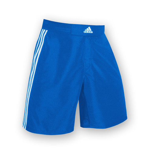 Royal - White Adidas Stock Grappling Shorts aA201s